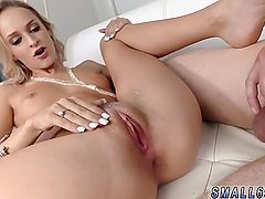 Young girl with braces and big tits blonde
