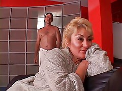 Old chubby chick is fucked hard by stud and gets a rejuvenating facial