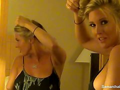 Behind the scenes with blonde superstar Samantha Saint