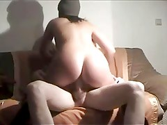 beautiful wife riding cock on homemade