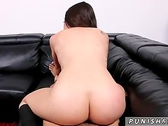 Step father punish strap on spanking milf