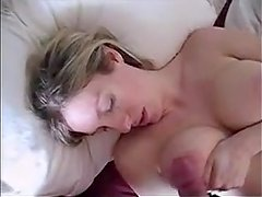Horny Wife Stroking Her Friends Cock