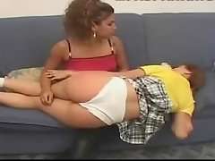 cotton panty wedgie spanking