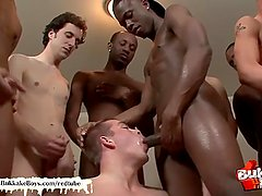 Twink law officer gets his dream wake up call - Bukkake Boys