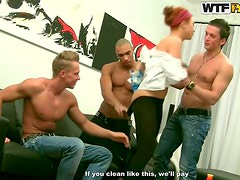 Horny Redhead In Anally Ruined In A Hot Gangbang