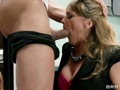 Horny Milf Shayla Leveaux Is Nailed With Hot Lingerie On