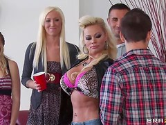 Fucking The Irresistible Blonde And Slutty Milf Nikita Von James
