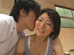 After Playing Basketball It's Time to Play with This Asian's Hairy Cunt
