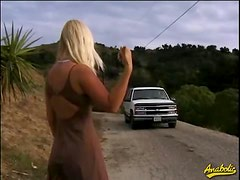 Sabrina gets pounded hard by a group of guys