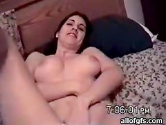 Hot Girl Shows Her Big Natural Tits And Blows A Cock As She Rubs Her Clit