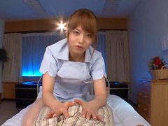 Hot Japanese Nurse Giving a Great POV Blowjob In The Hospital