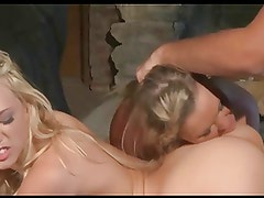 Kagney Linn Karter & Abbey Brooks 3way FUCKING 2