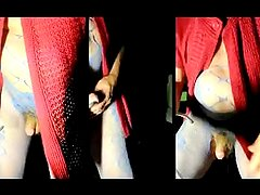 straight transvestite pumping sounding urethral pantyhose dildo 97