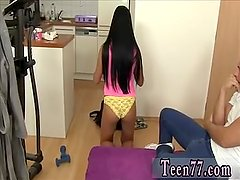 Red bush teen Obedient cleaning lady