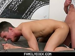 FamilyDick-Pounded in a surprise threesome with two older daddies