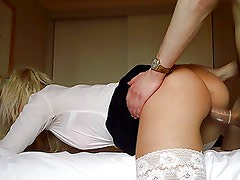 Amateur Schoolgirl Sucks, Fucks and HUGE Facial