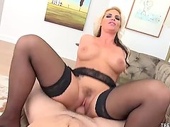 TrenchcoatX - Phoenix Marie sucks and rides cock POV