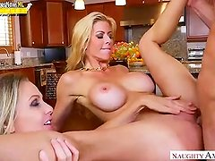 Aunt play with mom Alexis Fawx, Julia Ann and son