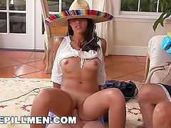 BLUE PILL MEN - Old Men Go South Of The Border With Latina Victoria Valenci