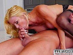 Blonde Mother Alexis Fawx Wore Stockings And Wake  Up Son