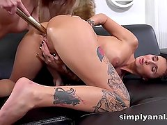 Simplyanal - Gabriela Gucci and Katy Rose tease their asses in lesbian anal