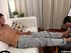 Julian Knowles and Cameron Kincade worship Christians feet