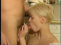 German maid gets fucked in the kitchen