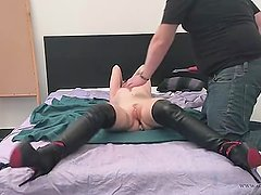 26 - tickle torture with her master of Cathy Crown