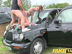 Fake Taxi Wet white panties in her mouth and fucked hard