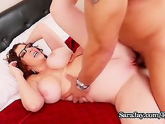 Busty Tutor Sara Jay Fucks Her Big Dick Student for Extra Credit!