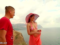 Caught naked by army copter. Nudist Vacations.