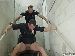 Male cops fucking and cumming banana naked