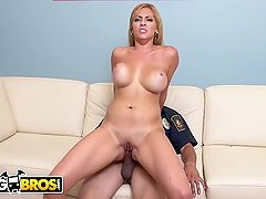 BANGBROS - Big Tits MILF Pornstar Jazmyn Fucks Lucky Security Guard