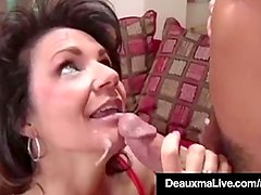 Busty Cougar Deauxma Fucks The Tax Man In Her House! Oho!