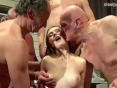 Busty slut   cum in throat