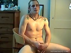 Young Torque Strips and Beats Off With Dildo