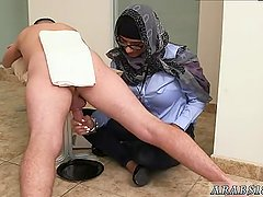 Arab girl massage Black vs White, My