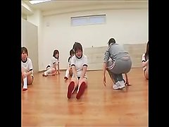 Japanese schoolgirls get facial cumshot