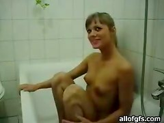 Shower Blowjob And Deep Throat With Hot Blonde Teen