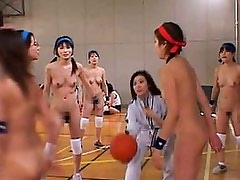 These hto amateur nudes play with each other in a hot team sport