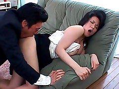 Miki Sato?s ass and pussy are touched and rubbed