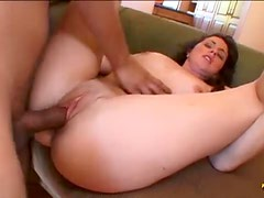Slut does her first rough threesome