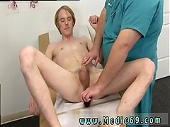 Young boys first physical exam  hot