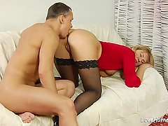 Pussy and ass licking with a horny couple