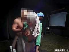 Arab couple fuck Sneaking in the Base!