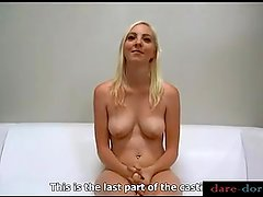 Blonde babe Zdenka casting shoot