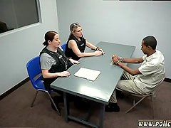 Blonde horny massage and cop strip tease
