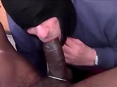 Daddy Sucking Hung Black Cock