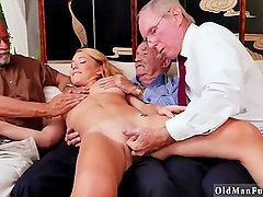 Teen slut interracial gangbang and her