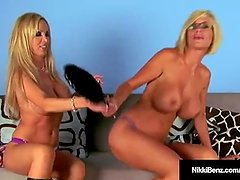 Penthouse Pet Nikki Benz & Busty Blonde Puma Swede Cam Fuck!